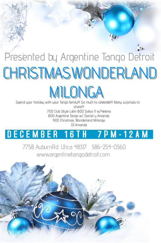 Argentine Tango Detroit Christmas Milonga